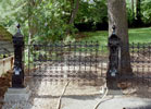 This wrought iron from the 18th century was reworked to make it fit.