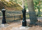 This 18th century fence was re-worked to fit the customer's need.
