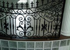 Add as much detail as you like to your iron railings.