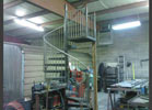 This is a spiral staircase during fabrication.