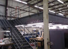 Structural steel mezzanine installed at Accelant in Salem