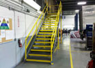 This staircase was fabricated and then installed at Coca Cola.