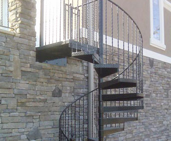 Residential Iron and Brass Railing